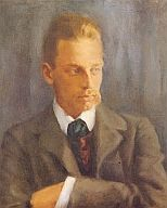 "duino-elegies: "" Helmut Westhoff, Portrait of Rainer Maria Rilke, 1901 "" Rainer Maria Rilke, Gustav Klimt, Emil Nolde, Hermann Hesse, Writers And Poets, Portraits, Carl Jung, Book Club Books, Oeuvre D'art"