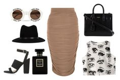 """classic black, white and coffee"" by georgiaphillips on Polyvore"