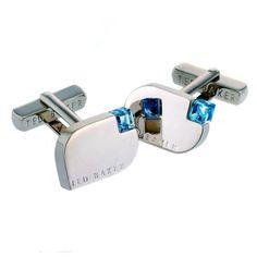 Ted Baker Ice Blue Crystal Set Cufflinks on http://coolcufflinks.co.uk