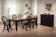 Image result for BLACK painted dining room hutches