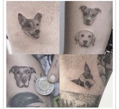 Small dog face tattoo