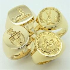 These demonstrate admirably the artistry and skill of the seal engraver Mens Gold Rings, Rings For Men, Silver Rings, Jewelry For Her, Jewelry Rings, Jewelery, Signet Ring, Fashion Rings, Ring Designs