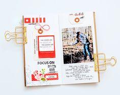 ★Scraptherapie★: { January Traveler's Notebook spread}