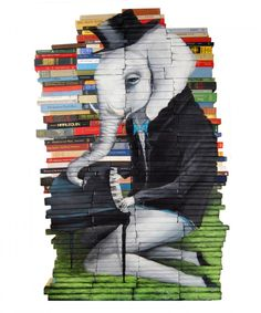 Paintings In Books By Mike Stilkey
