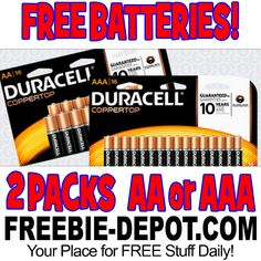 ►► FREE AA or AAA Duracell Batteries from Office Depot - Two 16-Packs - Exp 4/29/17 ►►  ►► Freebie Depot