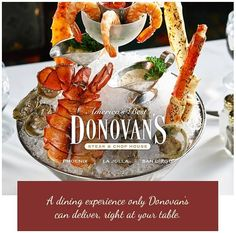 Hot summer nights are perfect for sampling fresh chilled seafood, paired with the perfect chilled white wine. Book now for an enchanting summer evening of exquisite seafood and better company. #lajollalocals #sandiegoconnection #sdlocals - posted by Donovan's Steak & Chop House  https://www.instagram.com/donovanssteakhouse. See more post on La Jolla at http://LaJollaLocals.com