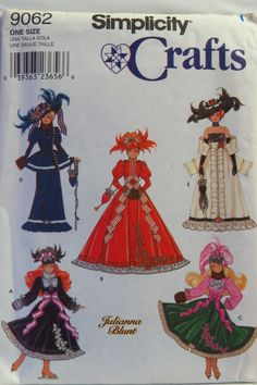 """Simplicity 9062 11½"""" Fashion Doll Clothes"""
