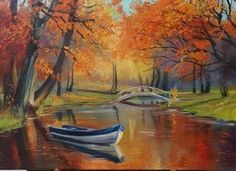 (notitle) – Martha Esther Ochoa Maciel – Join in the world of pin Autumn Art, Acrylic Art, Coloring For Kids, Beautiful Paintings, Amazing Nature, Landscape Paintings, Watercolor Art, Canvas Art, 1