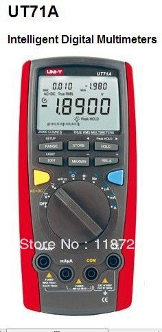 (121.28$)  Watch more here - http://ai1hb.worlditems.win/all/product.php?id=32694337365 - Intelligent Digital Multimeters UNI-T UT71A CD Digital AC DC current voltage USB true REL Resistance Tester Ammeter Multitester
