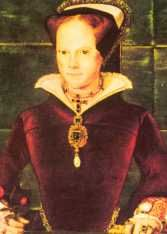 Queen Mary I (1553-1558). House of Tudor. Parents: Henry VII and Catherine of Aragon. 1st cousin 13 times removed of Queen Elizabeth II. Reign: 5 yrs, 3 mos, 29 days. Successor: 1/2 sister Elizabeth.