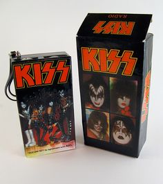 KISS AM Radio - I owned one of these back in the day. Paul Stanley, Gene Simmons, Kiss Memorabilia, Kiss Merchandise, Kiss Rock Bands, Vintage Kiss, Kiss Art, Hot Band, Best Rock