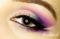 Purple eye with red lipstick – Makeup Geek