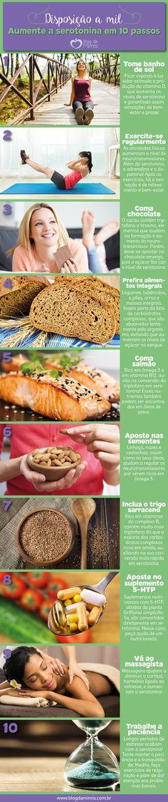 Disposição a mil: aumente a serotonina em 10 passos - Blog da Mimis #serotonina #emagrecer #dieta #serotonin #loseweight #diet