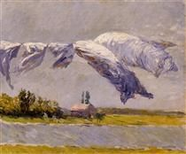 Laundry Drying, Petit Gennevilliers - Gustave Caillebotte