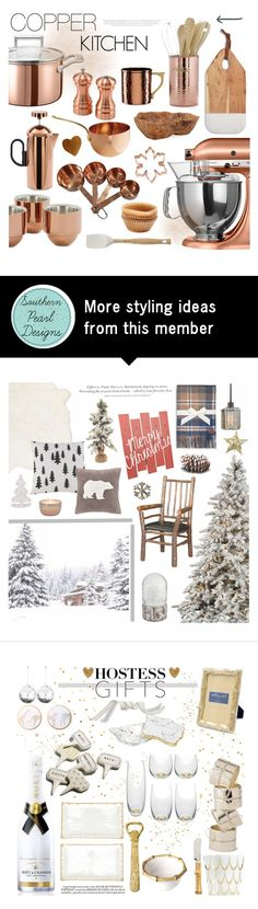 """COPPER KITCHEN"" by southernpearldesigns on Polyvore featuring interior, interiors, interior design, home, home decor, interior decorating, KitchenAid, Tom Dixon, Thirstystone and Williams-Sonoma"