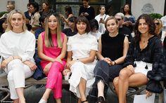 Front row:Taylor, Greta Lee, Rashida, Morgan Saylor and Leandra Medine…