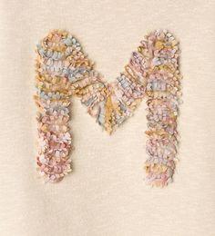 """Image 5 of """"M"""" appliqué sweatshirt from Zara"""