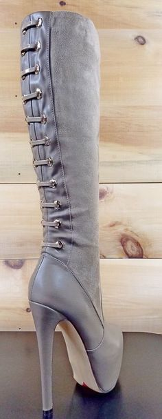 bb5386c5077 Luichiny Ra Quelle Taupe Stiletto Heel Platform Knee Boot-Yes please!