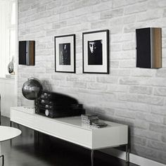 10M 3D White Grey Brick/Stone Adhesive Contact Paper Wallpaper Room Decor