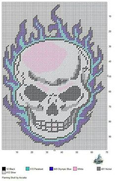 free printable plastic canvas patterns skulls - Google Search