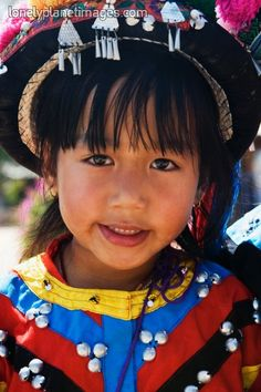Hmong Hill Tribe Child. Thailand. Asia.