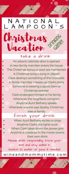 Get Holiday Hammered With Christmas Movie Drinking Games : Have a hilarious evening with National Lampoons Christmas Movie Christmas Movie Night, Best Christmas Movies, Lampoon's Christmas Vacation, Christmas Party Themes, Holiday Games, Hallmark Christmas Movies, Family Christmas, Xmas Party, Christmas Ideas
