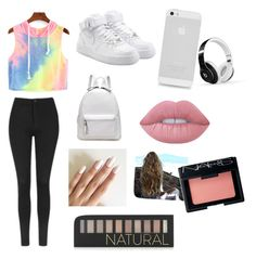 """""""ME"""" by lix-wxtson on Polyvore featuring Topshop, NIKE, Beats by Dr. Dre, Lime Crime, NARS Cosmetics and Forever 21"""