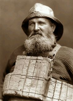 Frank Meadow Sutcliffe portrait of a Whitby Fisherman
