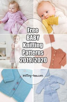 New and Free Baby Knitting Patterns Thousands of Free Knitting Patter. New and Free Baby Knitting Patterns Thousands of Free Knitting Patterns ⋆ Knitting Bee Free Baby Sweater Knitting Patterns, Double Knitting Patterns, Knitted Baby Cardigan, Knitted Baby Clothes, Knit Baby Sweaters, Baby Knits, Pull Bebe, Baby Clothes Patterns, Free Baby Patterns