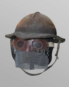 Tank troops face shield and helmet ww1