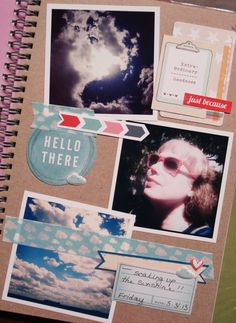 just because smash page - retro blue smash book