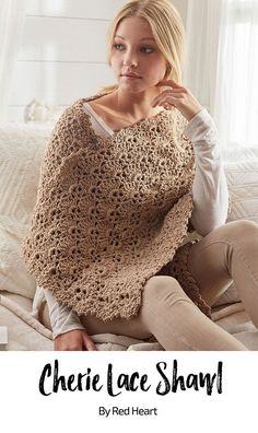 Cherie Lace Shawl free crochet pattern in Comfort.