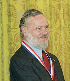 Dennis Ritchie (September 9, 1941 - October 12, 2011), co-inventor of UNIX and C. He received the 1983 Turing Award.