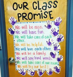 This year's sweeties came up with the most precious class promise for our year… Preschool First Day, Beginning Of Kindergarten, Kindergarten Anchor Charts, First Day Of School Activities, 1st Day Of School, Beginning Of The School Year, Preschool Family, Class Activities, 2nd Grade Classroom