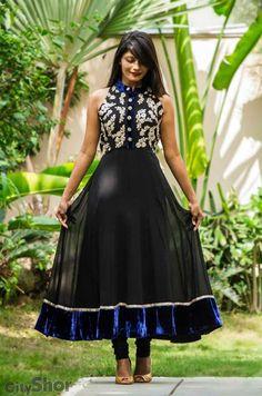 Black Anarkali #salwaar kameez #chudidar #chudidar kameez #anarkali #anarkali suits #dress #indian #hp #outfit #shaadi #bridal #fashion #style #desi #designer #wedding #gorgeous #beautiful