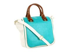 Steve Madden Sleek Color Block Satchel Satchel Handbags - Turquoise
