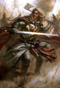 Theron's first husband, and the Captain of the Guard, Hauldin.  He's as sexy as he is a fierce warrior.