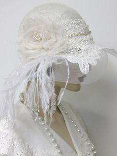 Flapper Wedding Cloche $358 #hats
