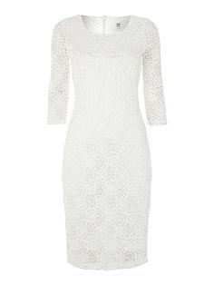 Lace layer midi dress