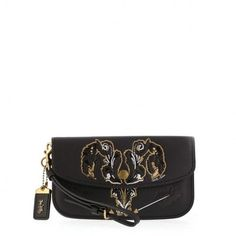 Get the trendiest Clutch of the season! The Coach New with Tattoo Wristlet Black Lambskin Leather Clutch is a top 10 member favorite on Tradesy. Black Clutch Bags, Leather Clutch Bags, Lambskin Leather, Black Leather, Black Bags, Crossbody Bags, Image Coach, Coach Clutch, Sunglasses
