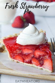 Pie Recipes, Baking Recipes, Dessert Recipes, Baking Ideas, Strawberry Cream Pies, Strawberry Desserts, Sugar Free Desserts, Just Desserts, Sweets