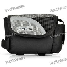 Brand: roswheel; Model: 12485; Quantity: 1; Color: Silver,black; Material: 600D,PU; Functions: bike bicycle upper tube bag; Best Use: Multisport; Gender: Unisex; Packing List: 1 x Upper tube bag; http://j.mp/1ljIuVu