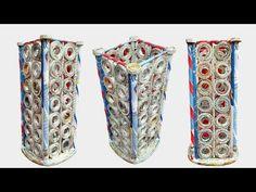 Newspaper Flower Vase | DIY newspaper crafts | Best out of Waste (Unique) - YouTube