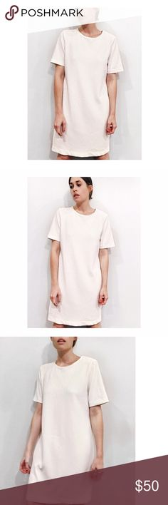 🆕 Cream Midi ✨ Tunic Dress Beautiful creamy midi dress featuring a classic crew neckline, drop shoulders, and midi length through the body. Found in a small vintage shop in NYC. Can also be worn over pants as a lovely tunic ✨☁️ // fits like a US size 6 // gently worn and in excellent condition 👐🏻☁️✨ Dresses Midi