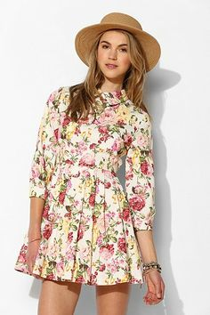 Sister Jane Garden Floral Collared Dress - Urban Outfitters