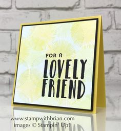 Lovely Inside & Out, Stampin' Up!, Brian King