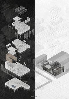 Collage Architecture, Black Architecture, Architecture Presentation Board, Architecture Board, Architecture Graphics, Architecture Visualization, Architecture Drawings, Architecture Portfolio, Concept Architecture