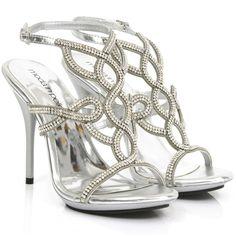 Senorita twist diamante vamp sandal