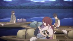 E07: As they are returning to town, they encounter Kiroumaru, who helps them by towing their canoes behind his ship. Saki restores Shun's telepathic powers and offers to help the others restore theirs
