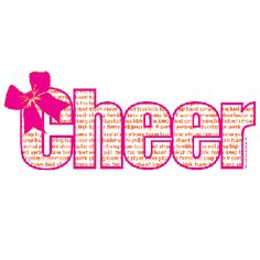 """This is one of our newest #cheer shirts! It contains a """"cheer"""" outline with cheer related words and sayings. #cheerleader #apparel #spirit #accessories #spiritaccessories"""